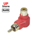 Adaptador L RCA Fêmea  <=> RCA Macho Red