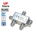 Adaptador  Plug 1x Antena F => Plug 2x Antena F