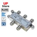 Adaptador  Plug 1x Antena F => Plug 4x Antena F