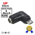 Adaptador L Plug DC 5.5-2.1 F => MicroUSB B M