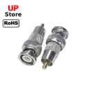 Adaptador   Plug BNC Macho Trava <=> Plug RCA Macho