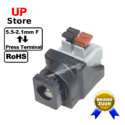 Adaptador Plug DC 5.5-2.1 F <=> Terminal Cabo Press Encaixe