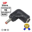 Adaptador L Plug DC 5.5-2.5 F <=> Plug DC 3.5-1.35 M