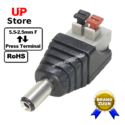 Adaptador Plug DC 5.5-2.5  <=> Terminal Cabo Press