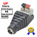 Adaptador Plug DC 5.5-2.5 F <=> Terminal Cabo Press