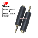Adaptador P1 2.5mm Stereo F => P3-4 Plug 3.5mm 4 Vias