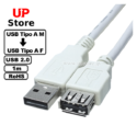 Cabo USB 2.0 A M <=> USB 2.0 A F White 1m