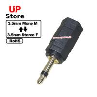 Adaptador  3.5mm Mono M – Plug 3.5mm Stereo F