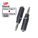 Adaptador  Plug 3.5mm 4 Vias F – Plug 3.5mm 3 Vias M