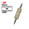 Adaptador  Plug 3.5mm 4 Vias M – Plug 3.5mm 4 Vias M