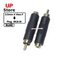 Adaptador  Plug 3.5mm 4 Vias F – Plug RCA M