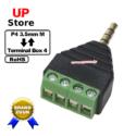 Adaptador  Plug 3.5mm 4 Vias M – TerminalBox  4 Vias
