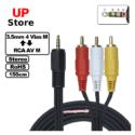 Adaptador Plug 3.5mm 4 Vias M – Plug RCA L-R-V M 150cm