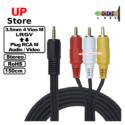 Adaptador Plug 3.5mm L/R/G/V M – Plug RCA L-R-V M 150cm