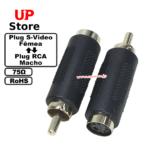 Adaptador  Plug S-Video F – Plug RCA M