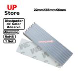 Dissipador De Calor Alumínio 22x66x6  Set 1pç