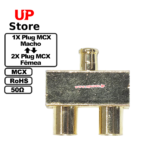 Adaptador 1X Plug MCX M – 2X Plug MCX F