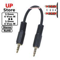 Adaptador Plug 3.5mm 4 Vias M – Plug 3.5mm 4 Vias M 15-500cm