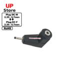 Adaptador L Plug  DC 2.35-0.7 M  – Plug  DC 2.35-0.7 F