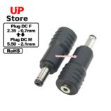 Adaptador Plug  DC 2.35-0.70 F-Plug  DC 5.50-2.10M