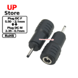 Adaptador Plug  DC 5.50-2.10 F-Plug  DC 2.35-0.70 M