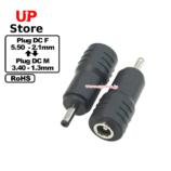Adaptador Plug  DC 5.50-2.10 F-Plug  DC 3.40-1.30 M
