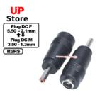 Adaptador Plug  DC 5.50-2.10 F-Plug  DC 3.50-1.30 M
