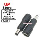 Adaptador Plug  DC 5.50-2.10 F-Plug  DC 5.50-3.00 M