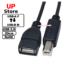 Cabo USB-B M  – USB-A F 20cm